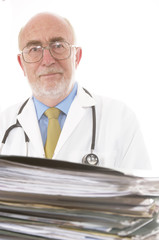 Doctor with paperwork