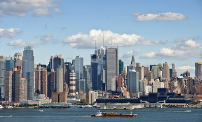 new york cityscape over the hudson river