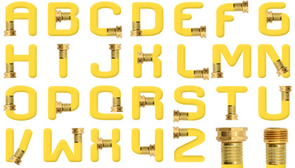 Yellow Garden Hose Alphabet