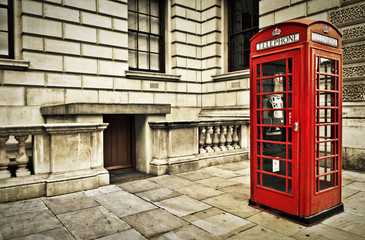 Telephone box in London