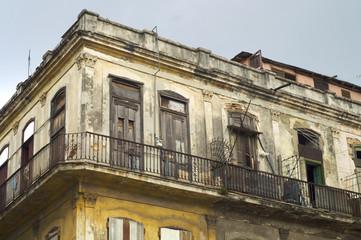 dilapidated building in havana