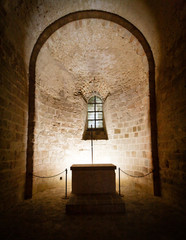 intérieur abbaye mont saint michel