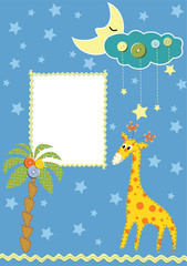 Baby frame or card. Vector