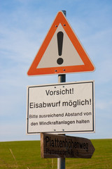 Warnschild Windrad