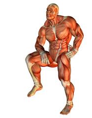 Wall Mural - Muskel Body Builder auf einen Bein stehend