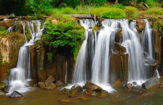 Tad Pha Suam waterfall, Souhtern of Laos