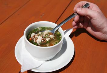 Traditional Walachian soup