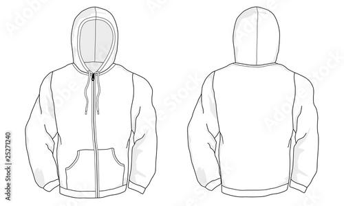 Zip Hoodie Kaputzen Pullover Mit Reissverschluss Stock Image
