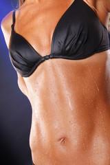 Wet abs after intense workout