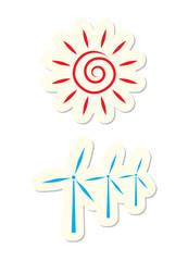 Sun and Turbine Icons