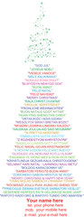 Merry Christmas and Happy New Year in many languages