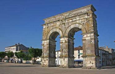 Foto auf Leinwand Kunstdenkmal arc de triomphe Saintes