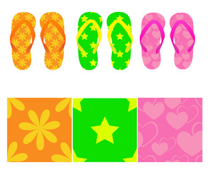 Set of flip-flops with three seamless