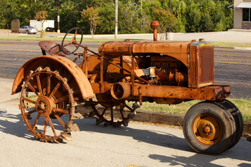 Rusty Antique Corroded Tractor