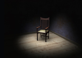 Stuhl im Spotlight