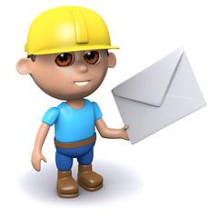 3d Builder holds an envelope