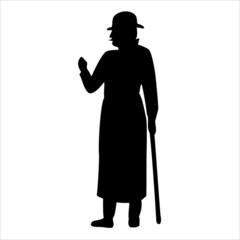 Gentleman silhouette, vector