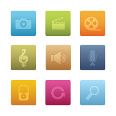 Square Multimedia Icons 03