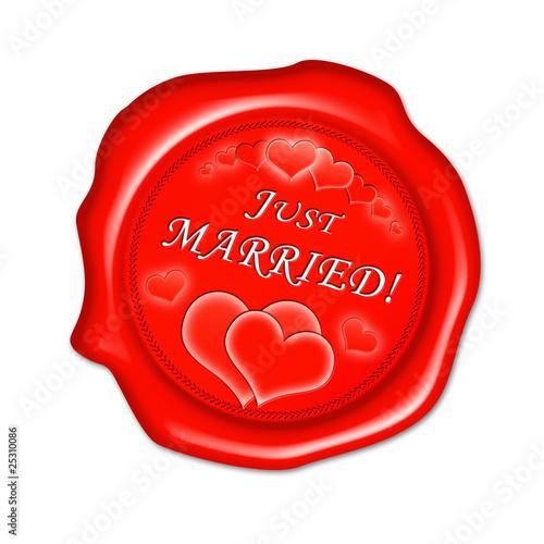 just married button siegel stempel stockfotos und lizenzfreie bilder auf bild. Black Bedroom Furniture Sets. Home Design Ideas