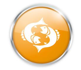 Fische Button Orange