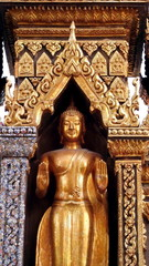 Beautiful golden buddha statue in a temple