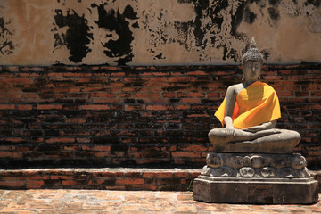 Lonely buddha in Ayuthaya