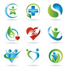 Gesundheitsvorsorge Logos