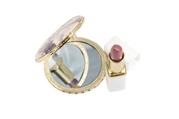 Spiegel und Lipstick