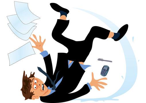 Accident at work - wet floor