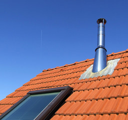 Dach mit Schornstein