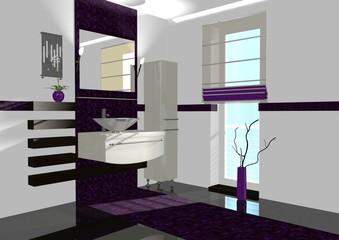 badezimmer violett