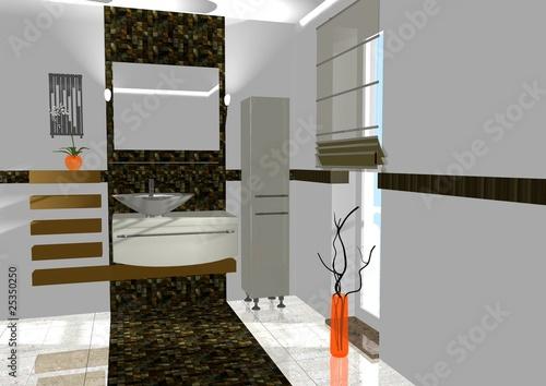 badezimmer braun orange stockfotos und lizenzfreie bilder auf bild 25350250. Black Bedroom Furniture Sets. Home Design Ideas