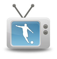 "Cartoon-style TV Icon ""Football / Soccer"""