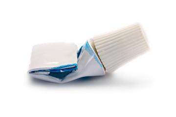 Used tube isolated on white