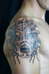 Alien Species Tattoo Artwork