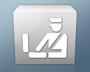 "Box-shaped Icon ""Customs Symbol"""