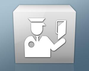 "Box-shaped Icon ""Immigration Symbol"""