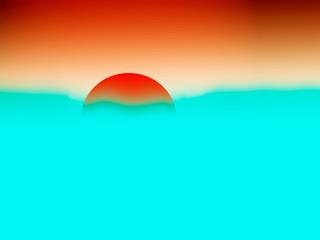 sunrise, illustration