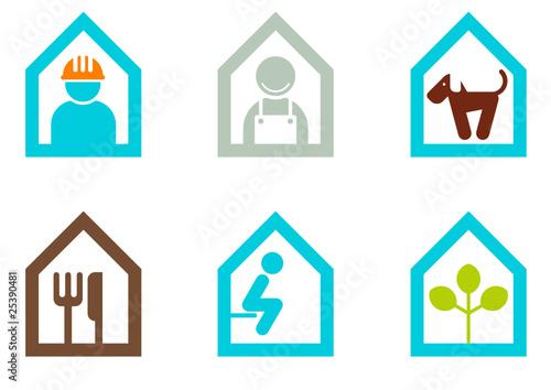 haus heim bau zeichen symbol icon stockfotos und lizenzfreie vektoren auf bild. Black Bedroom Furniture Sets. Home Design Ideas