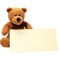 Blanco - Schild mit Teddy