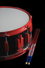 Snare Drum Isolated On Black