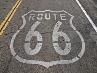 Fotobehang Route 66 Route 66 Faded