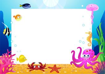 Poster Submarine Sea life