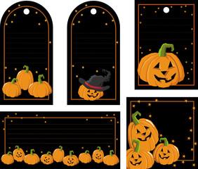 labels with pumpkins