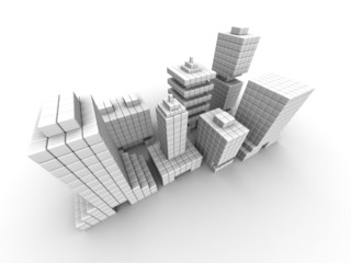 Real estate business commercial building