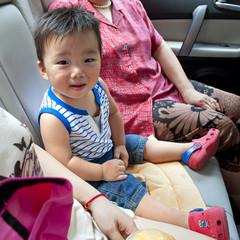 baby inside a car