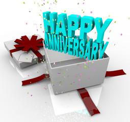 Present - Happy Anniversary Gift Box
