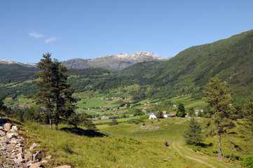 Countryside above Hardangerfjord, Norway