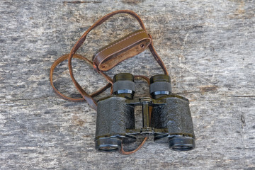 Old army field binocular