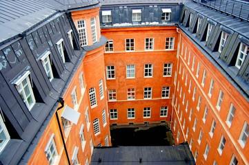 Orange building in Stockholm